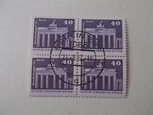 DDR Nr 1879 gestempelt 4er Block