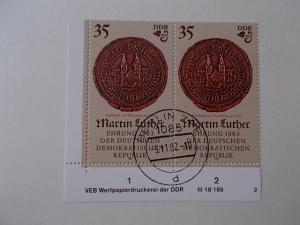 DDR Nr 2756 gestempelt mit Druckvermerk