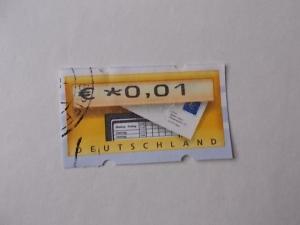 Bund Automatenmarke Briefkasten gestempelt mit Zählnummer