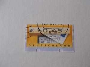 Bund Automatenmarke Briefkasten gestempelt oben ohne Transportlöcher