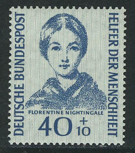 225 Helfer der Menschheit 40+10 Pf Florence Nightingale, ** / MNH gprüft BPP