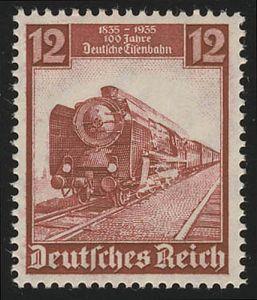 581 Deutsche Eisenbahn 12 Pf - Schnellzug 1935, postfrisch **