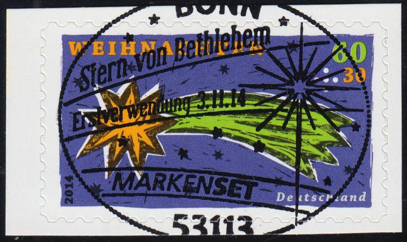 3112 Weihnachten - Stern von Bethlehem, selbstklebend aus FB 40, EV-O Bonn