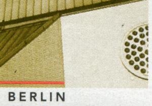Block 37 Architektur mit PLF 1906I schwarze Flecken über BERLIN und Fenster **