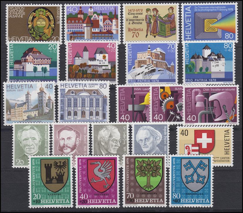 1116-1145 Schweiz-Jahrgang 1978 komplett, postfrisch