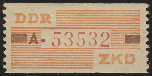 V Dienst-B, Billet Buchstabe A, orange/karmin/lebhaftrot, ** postfrisch