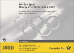 47 MH Winterolympiade, Versandstellenstempel Frankfurt/Main 7.2.2002