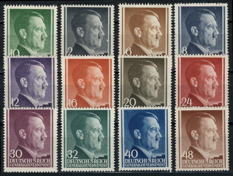 71-82 Freimarken Hitler 1941, Satz komplett ** postfrisch