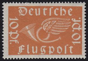 111a Flugpostmarke 10 Pf Posthorn **