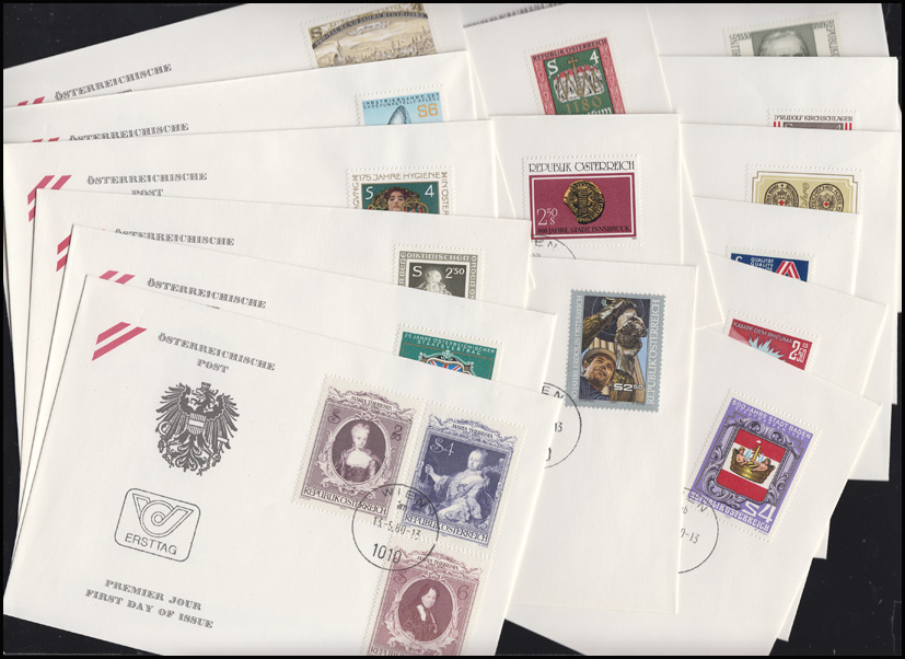 1631-1663 Österreich-Jahrgang 1980 komplett auf Ersttagsbriefen / FDC