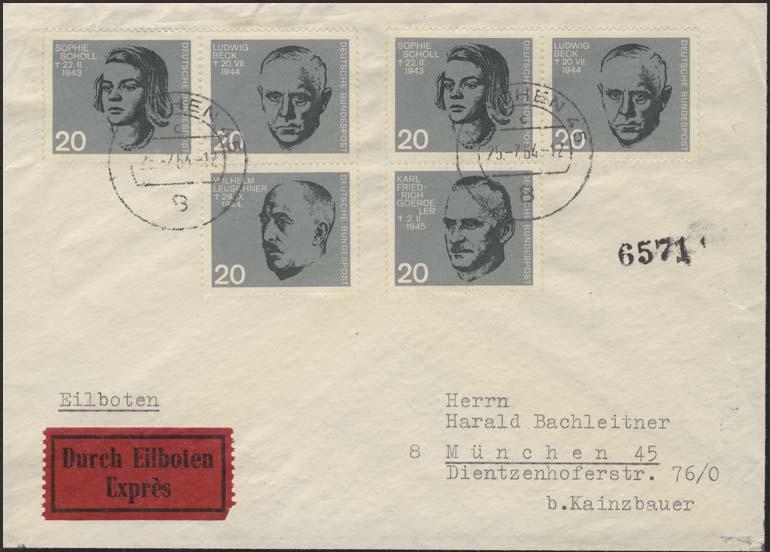 431ff 20.Juli 1944 zwei ZD aus Block 3 auf Orts-Eil-Bf München 25.7.1964