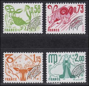 2063-2065 Freimarken mit Vorausentwertung - Tierkreiszeichen, 4 Werte, Satz **