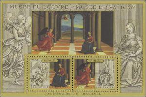 Block 40 Louvre & Vatikanisches Museum - Raffael Gemälde Verkündung, **
