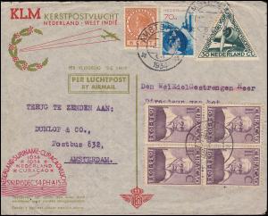 1. KLM-Transatlantikflug NL-Suriname-Curacao 15.12. / 20.12.34 Schmuckbrief