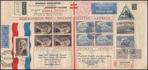 KLM-Flugpost NL-Australien LONDON-MELBOURNE AIR RACE, Emma-R-Brief 20.10.1934