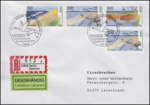 1871-1873 Boddenlandschaft - ZD aus Block, R-Eigenhändig-FDC ESSt Berlin 18.7.96