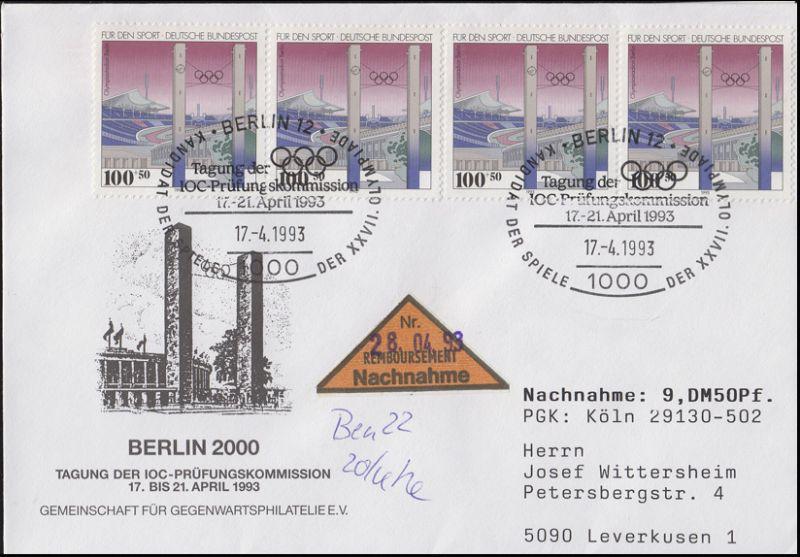 1652 Olympiastadion Berlin, MeF NN-Bf SSt Berlin IOC-Tagung 17.4.1993