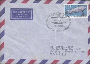 1525 Zeppelin, EF Bf SSt Berlin Raumfahrerkongreß 5.10.91 & 2 Codierungen E 35