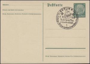 Postkarte P 226I Hindenburg 6 Pf mit SSt BERLIN Ausstellung NORPOSTA 8.10.1938