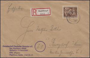 865 Jahrestag der Machtergreifung 54 Pf. EF R-Bf MAGDEBURG 6.12.44 nach Burgdorf
