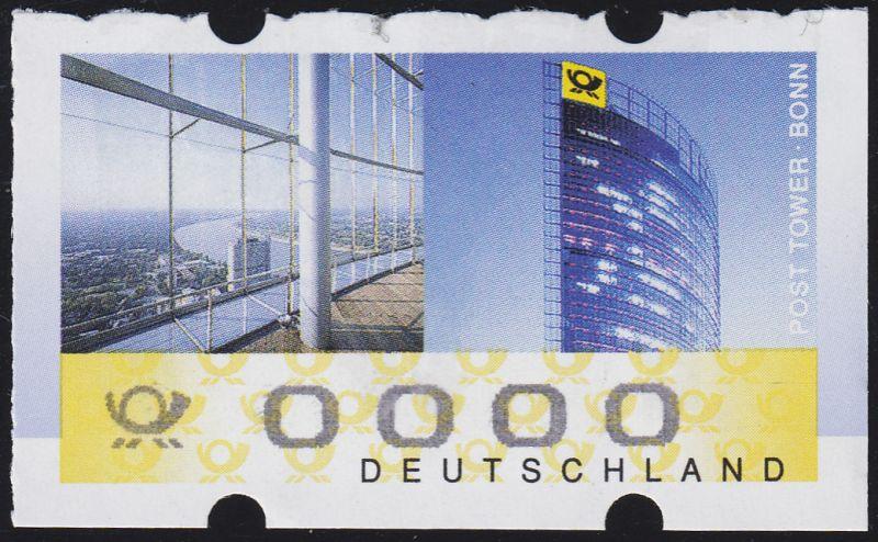 7I+XXXI Post Tower Bonn: Rollenanfang mit Eindruck 0000 und Zählnummer 2000, **