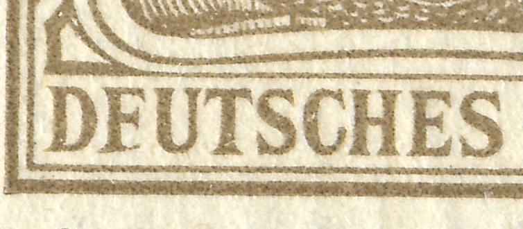 69I Germania 3 Pf. mit dem PLF I: F statt E im ersten E in DEUTSCHES, **