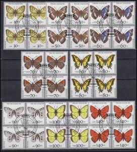 1512-1519 Schmetterlinge als Viererblock-Satz mit ESSt Bonn