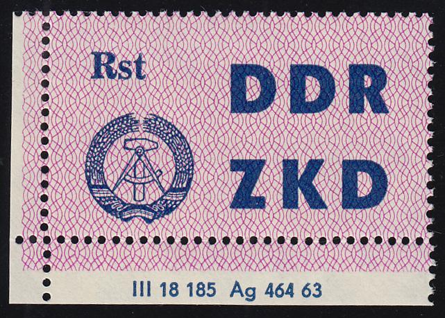 Dienst C 13 Volkspolizei Rostock - Ecke mit Druckvermerk DV 2, unten gefaltet **