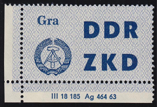 Dienst C 6 Volkspolizei Gera - Ecke mit Druckvermerk DV 2, unten gefaltet **