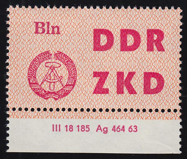 Dienst C 1 Volkspolizei Berlin - mit Druckvermerk DV 2, ungefaltet **