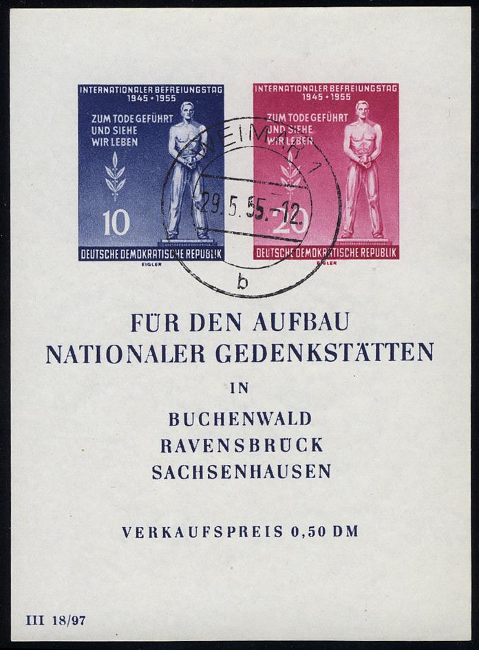 Block 11 Gedenkstätten, Tages-O Weimar 1 - 29.5.55