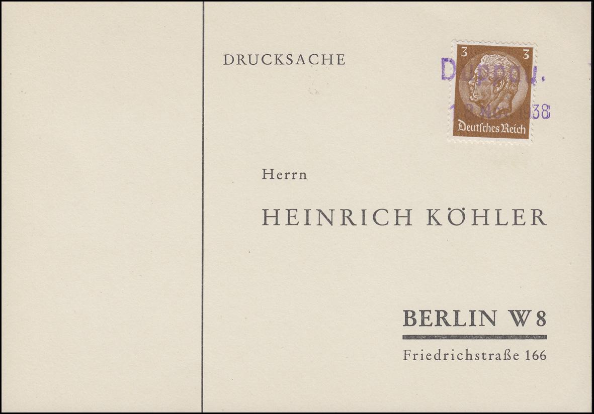 Sudetenland 1938: Drucksache Zweizeiler