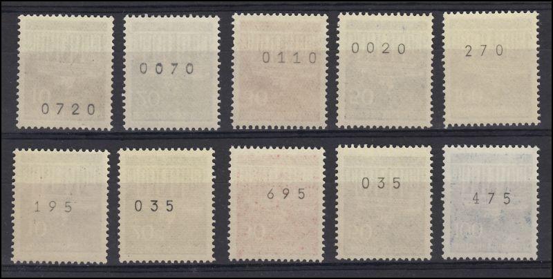 506-510v Brandenb. Tor - 2 Sätze, mit gerader und ungerader Zählnummer, **