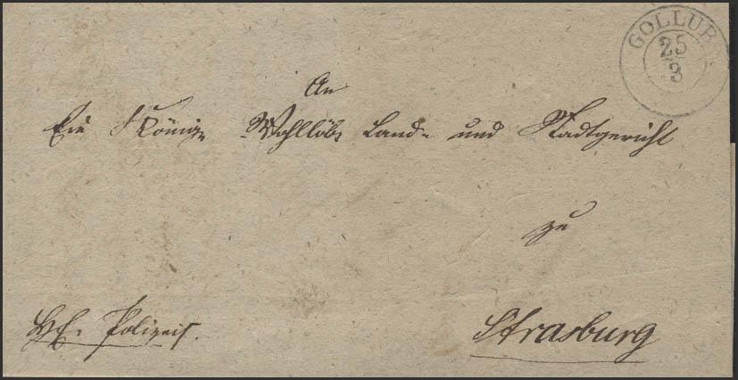 Preußen Faltbrief Gollub 25.3.1842 nach Strasburg/Westpreußen