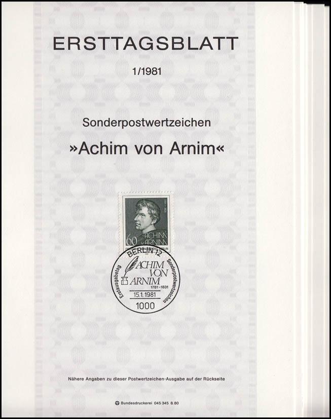 ETB Berlin Jahrgang 1981 Nr. 1 - 13 komplett