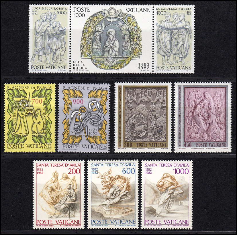 803-815 Vatikan-Jahrgang 1982 komplett, postfrisch