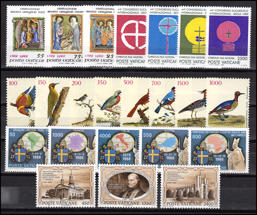 969-995 Vatikan-Jahrgang 1989 komplett, postfrisch