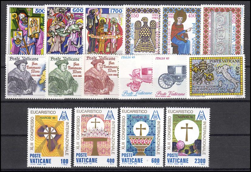 867-882 Vatikan-Jahrgang 1985 komplett, postfrisch