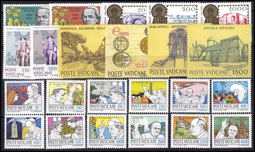 844-866 Vatikan-Jahrgang 1984 komplett, postfrisch