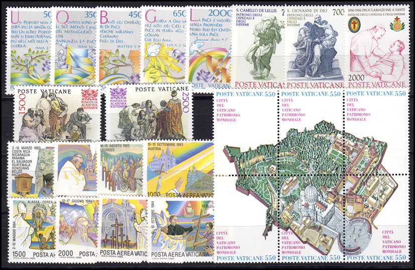 883-906 Vatikan-Jahrgang 1986 komplett, postfrisch