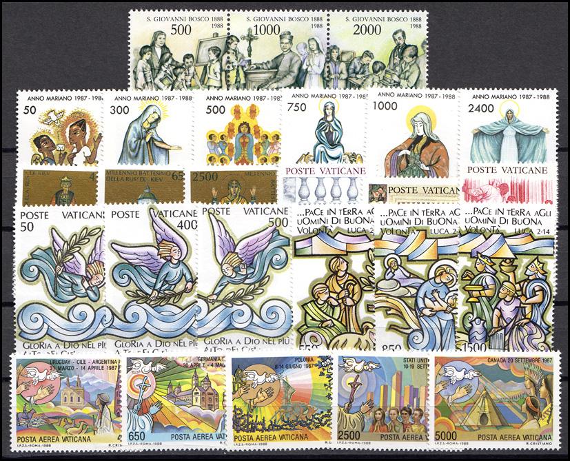 937-968 Vatikan-Jahrgang 1988 komplett, postfrisch