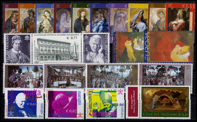 1394-1427 Vatikan-Jahrgang 2002 komplett, postfrisch **