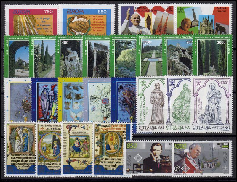 1136-1166 Vatikan-Jahrgang 1995 komplett, postfrisch