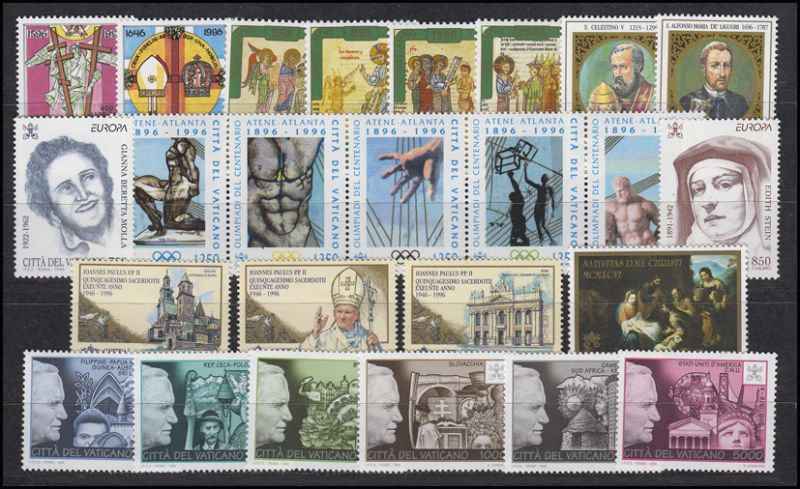 1167-1196 Vatikan-Jahrgang 1996 komplett, postfrisch