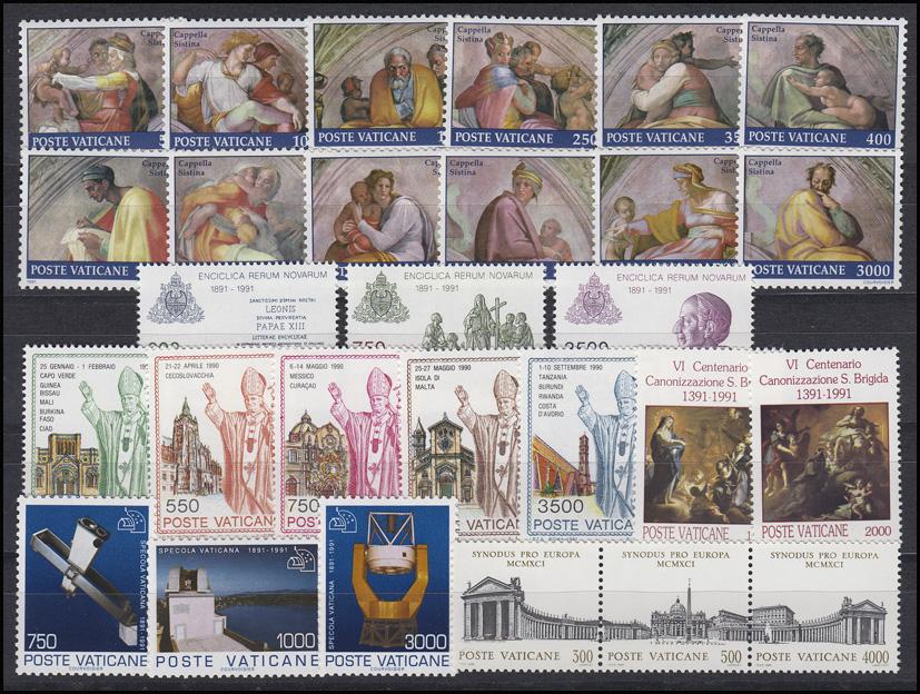 1023-1050 Vatikan-Jahrgang 1991 komplett, postfrisch