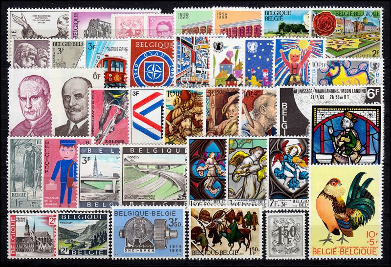 1539-1579 Belgien-Jahrgang 1969 komplett, postfrisch