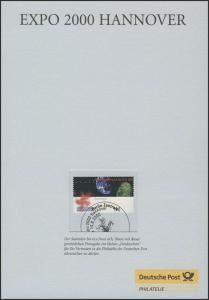 Treuegabe der Post: Weltausstellung EXPO, ESSt 2000