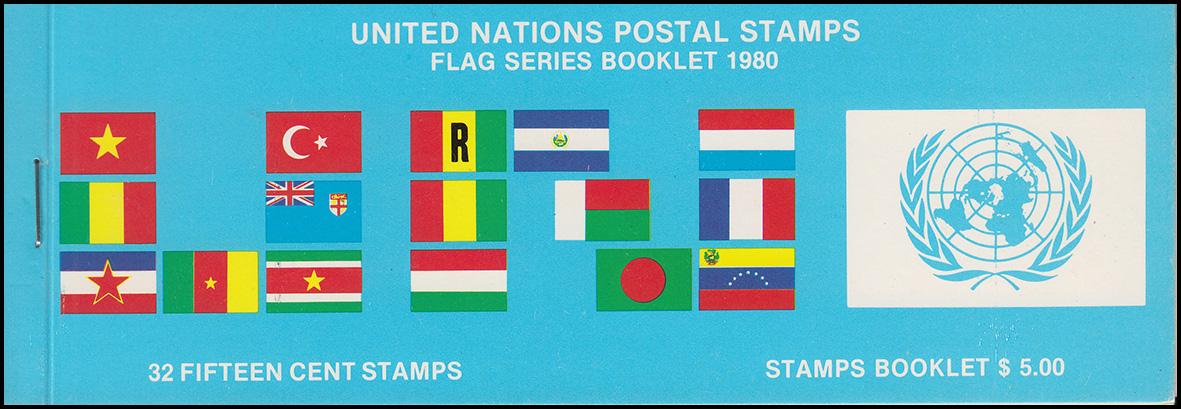 UNO New York AIDIP-Edition Flaggen-Markenheftchen 1980 (blau) **