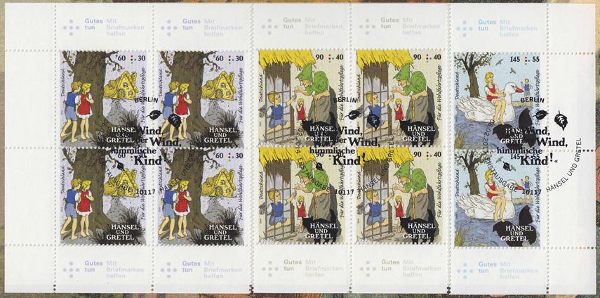 3056-3058 Grimms Märchen: Hänsel und Gretel - Satz auf Kartonvorlage, ESST