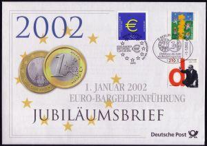 2234 Euro-Bargeldeinführung 2002 - Jubiläumsbrief